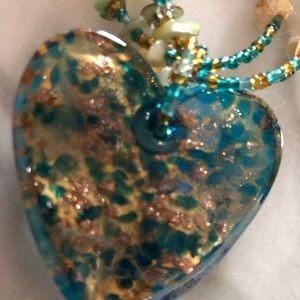 Jewelry - BOGO ❤️ Original Glass Heart Necklace